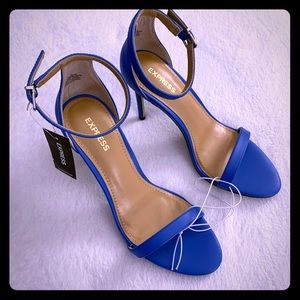NWT Blue Ankle Strap High Heels